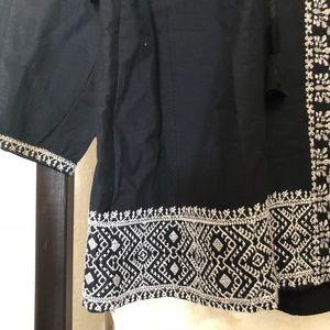 Madewell Tops - Madewell Embroidered Camelia Tassel Top
